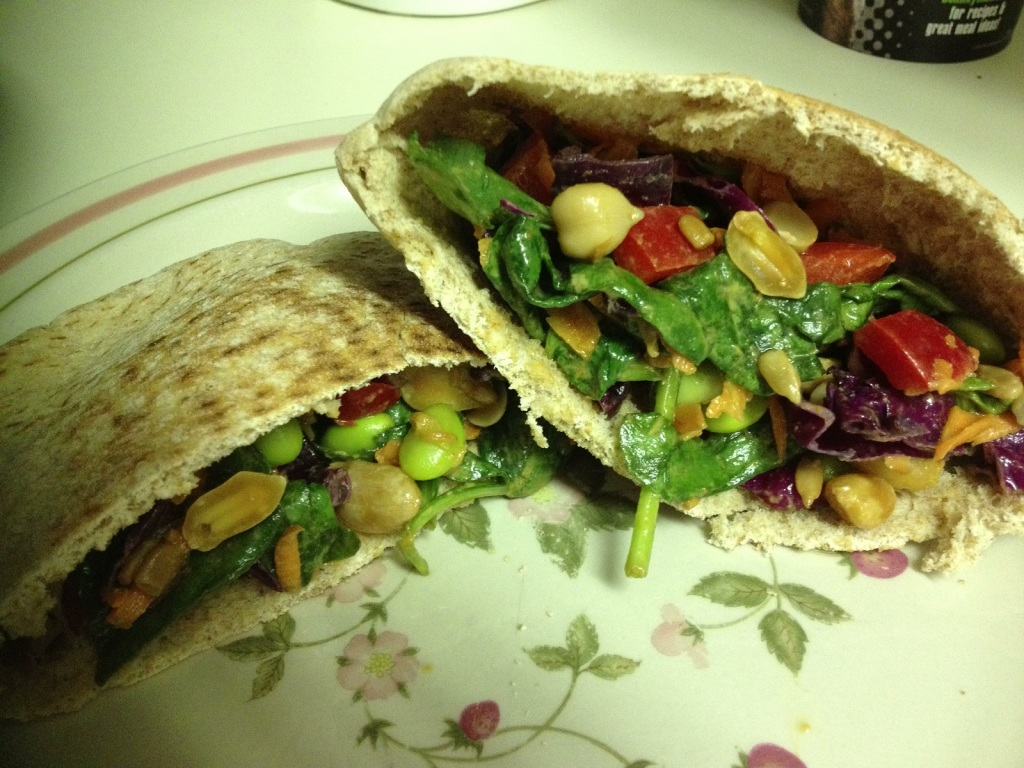 Thai spinach salad pita pockets june 13