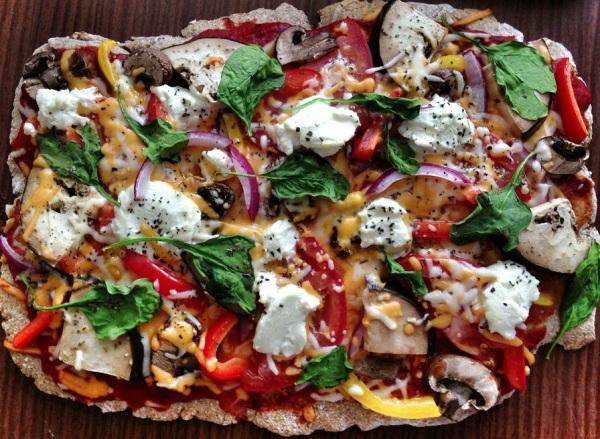 Homemade veggie pizza honey wheat crust aug 13 (1)2