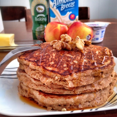 These apple cider pancakes are great for after a workout, SO tasty, and so nutritious!