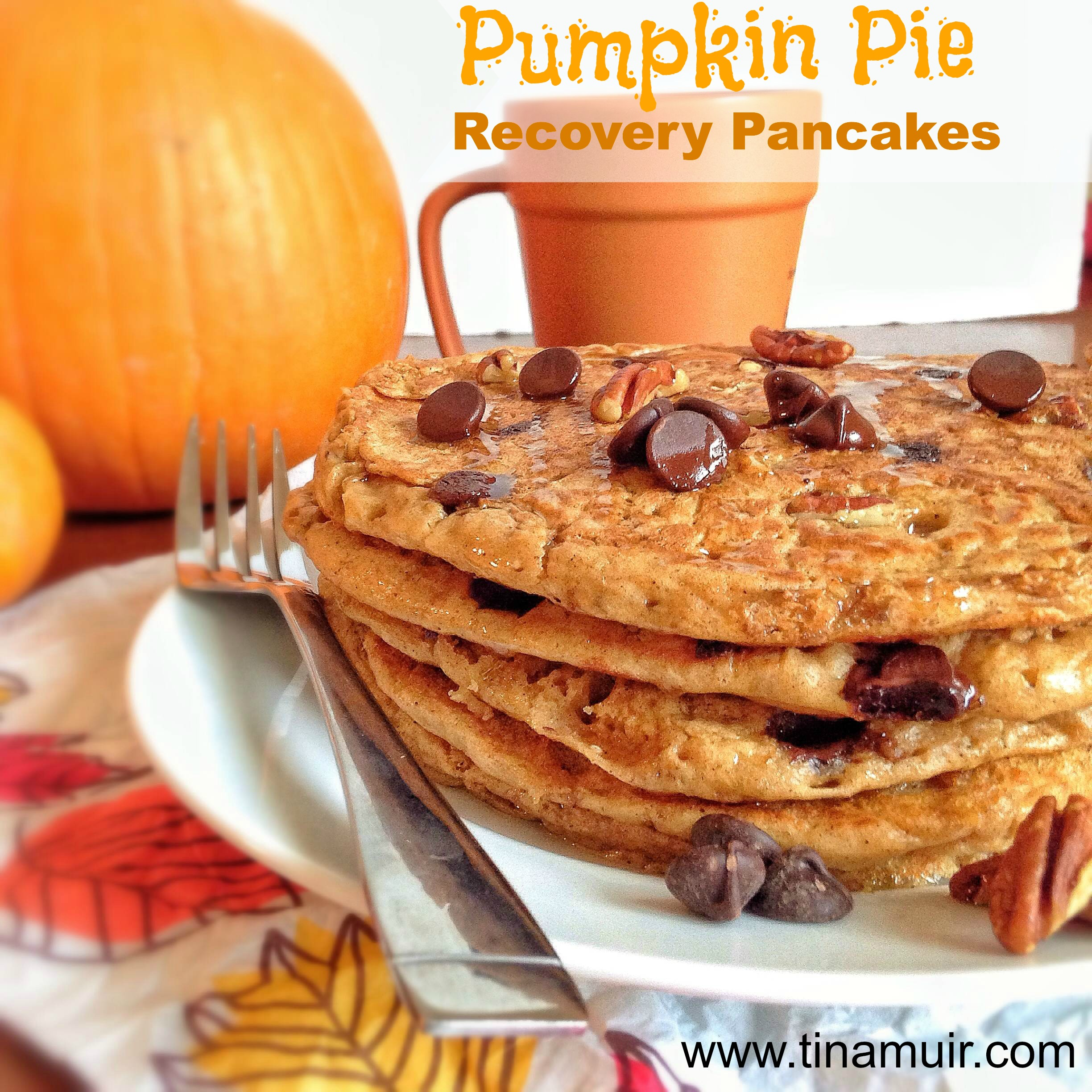 Pumpkin Pie Pancakes • Running For Real