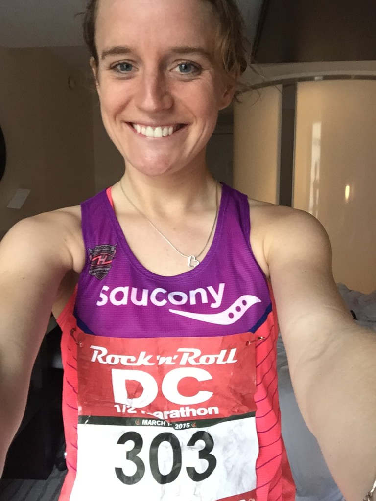 First post race photo, once we were back to the hotel and had warmed up a little!