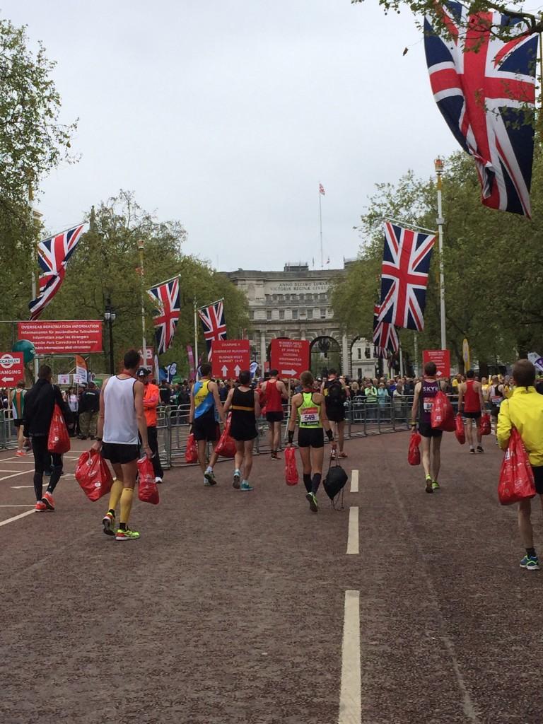 Tina Muir Finish Mall London Marathon 2015
