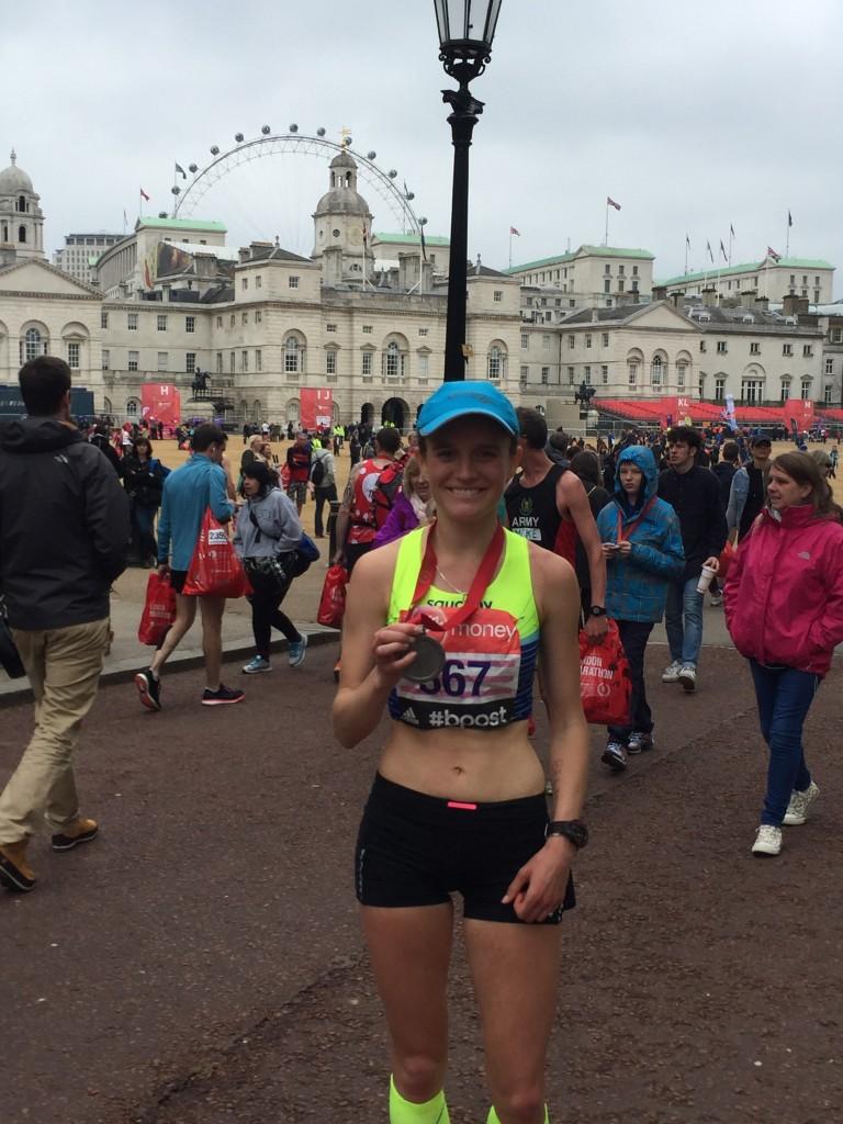 Tina Muir Finish London Marathon 2015
