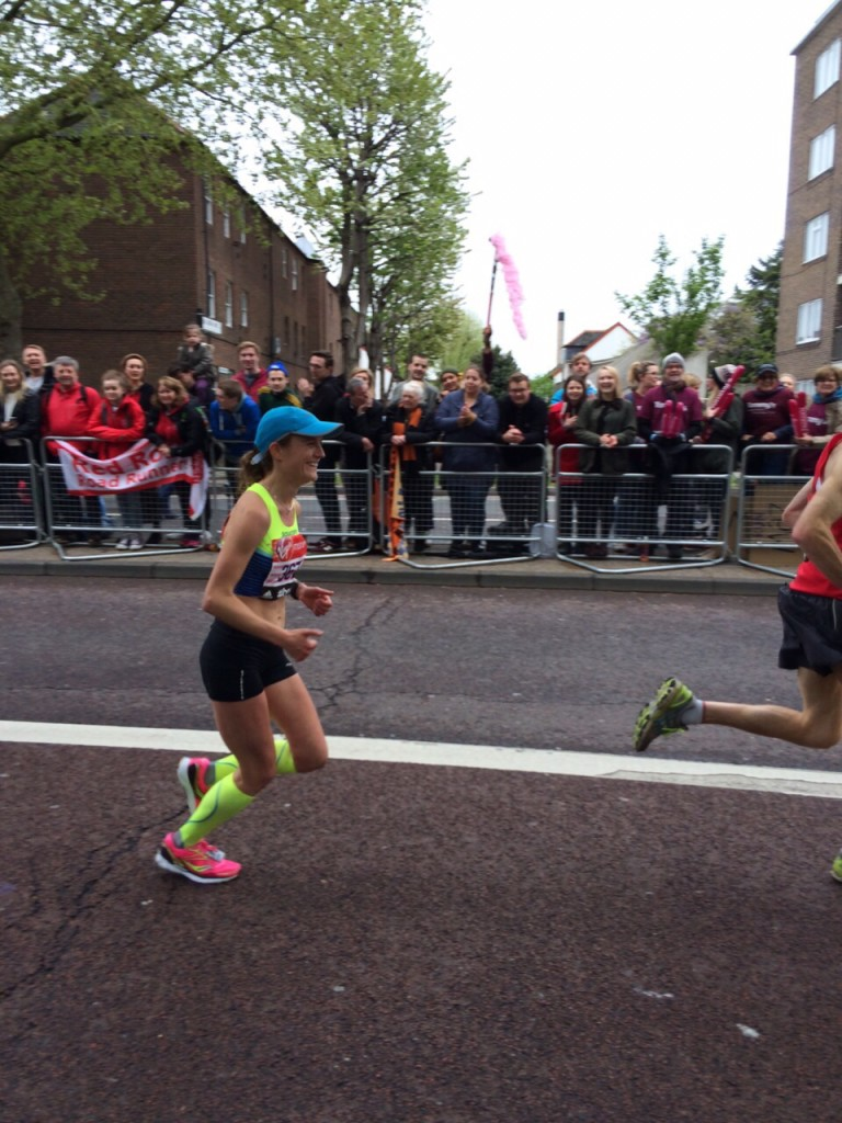 Tina Muir Mile 12 London Marathon 2015
