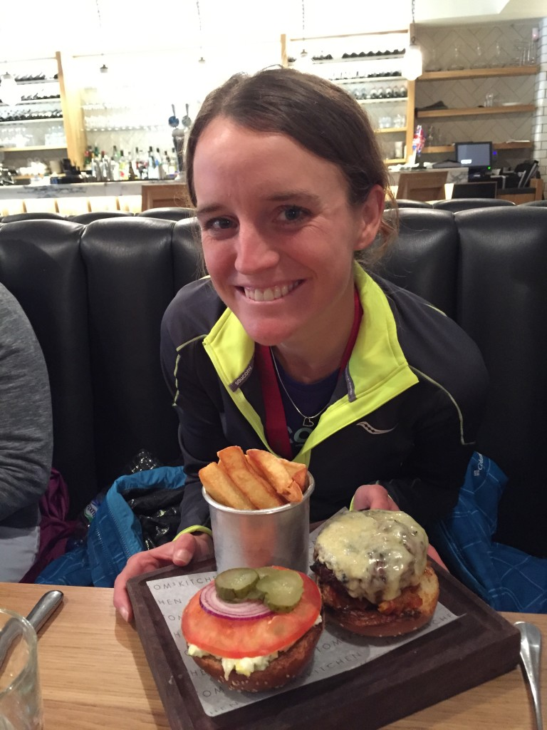 Tina Muir Post Race Meal London Marathon 2015
