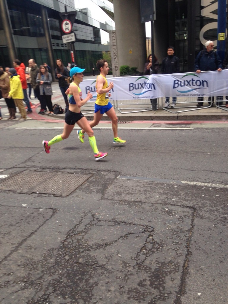 Charlie took this at mile 23, over striding so much less than in the past, especially at this point!