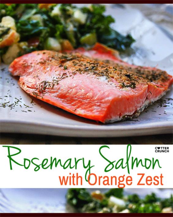 Rosemary salmon with orange zest
