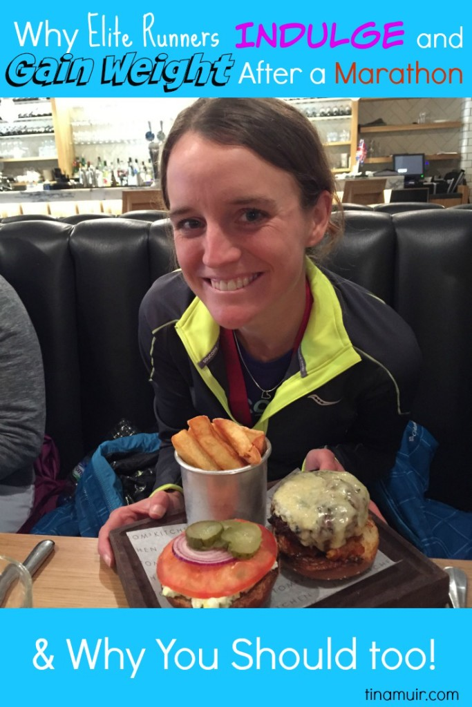 Elite Runner Tina Muir discusses why it is GOOD for you to indulge (and gain weight) following a marathon, and how elites overcome the negativity associated.