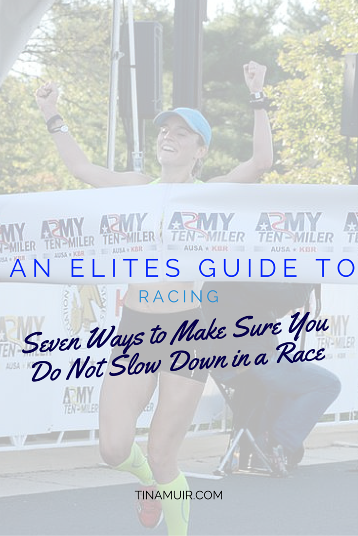 If you have trouble with slowing down in the middle of a race, elite runner Tina Muir explains how to prevent that from happening and run faster by being consistent.