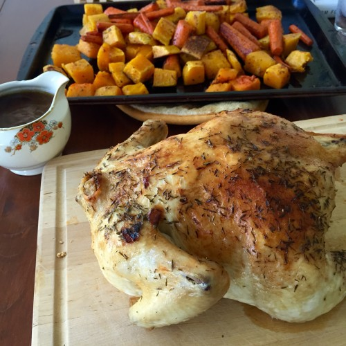 Roast Chicken and Roasted Butternut Squash