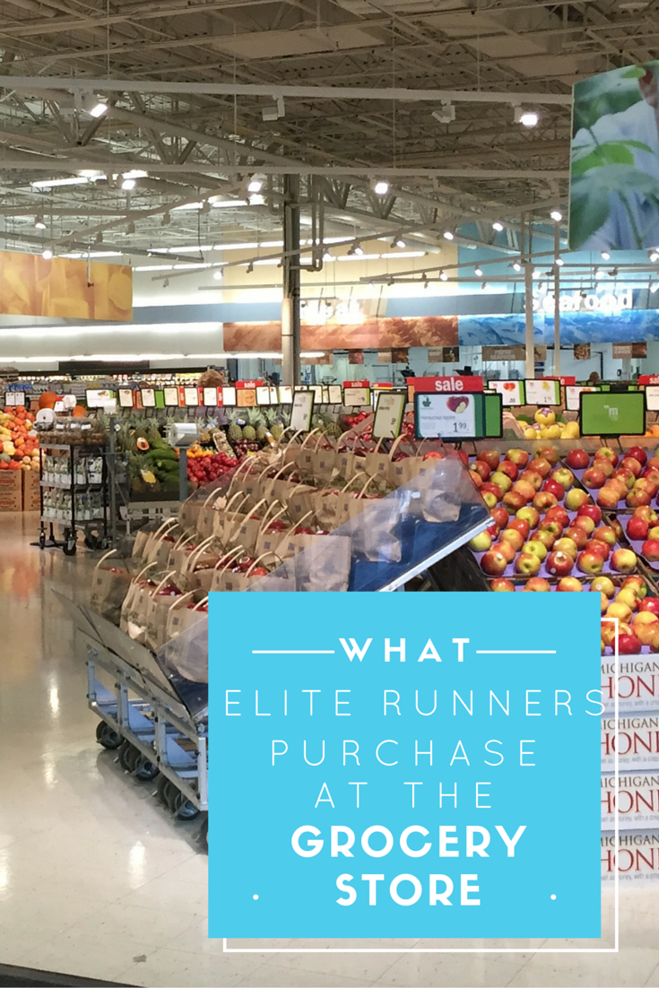 Elite runners are so in tune with their bodies, but just what do they buy when they go grocery shopping. Elite runner Tina Muir shares her grocery list.