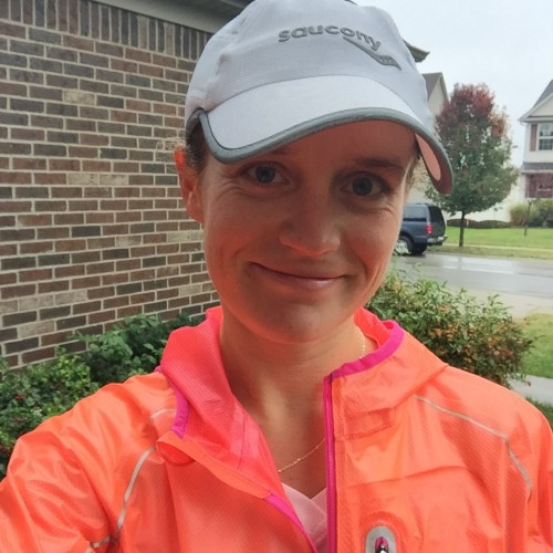 """Putting on a brave face (mostly because of my beautiful new Saucony jacket), but I knew it my heart I was not """"ready"""" on this day"""