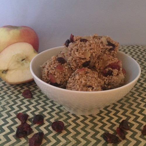 Apple & Cranberry Protein Bites