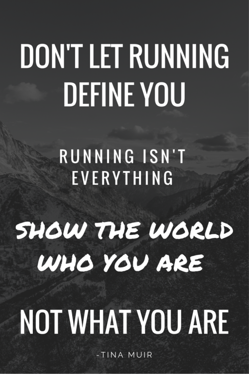 As runners we often let running become our life. We become obsessed, and nothing else matters, but running is just something you do, not something you are. Let your true beauty shine. Be Brave. Be Strong. Be YOU!