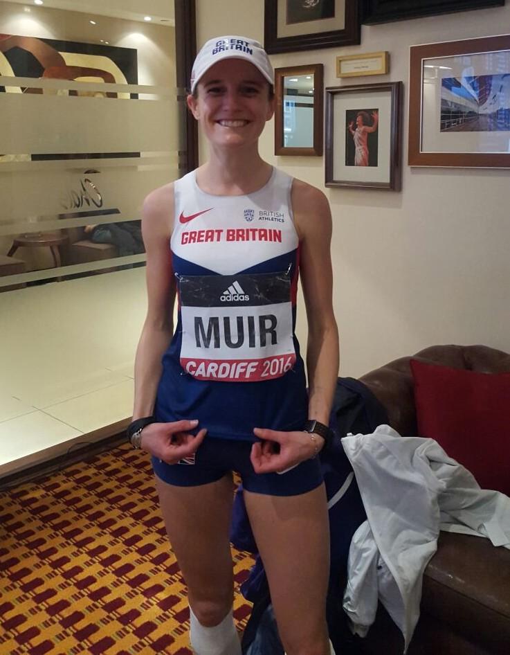 Tina Muir post race